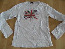 CHIPIE schönes Shirt Union Jack weiß Gr. 10 J / 140 TOP (KJ814)