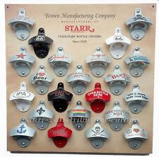 Sammelbord für 22 USA STARR X Wandflaschenöffner Bottle Openers since 1925