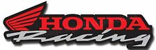 "HONDA RACING DIGITALLY CUT OUT VINYL STICKER. 6"" X 2"" OVERALL SIZE"