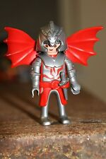 PLAYMOBIL - personnage-HOMME chevalier ailes dragon rouge  guerrier château fort