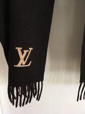 Authentic LOUIS VUITTON Cashmere Scarf Dark Brown Color