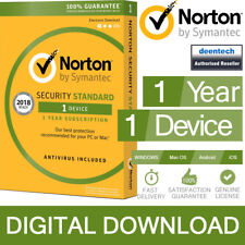 Norton Security Standard 2018 (1Device/1Year) Internet Antivirus PC/Mac Licence