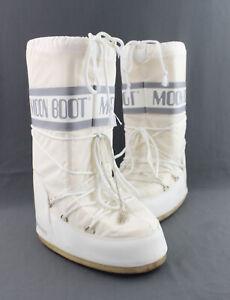 Moon Boot White Icon Nylon Slip On Snow Boot Size 39/41 8/9.5