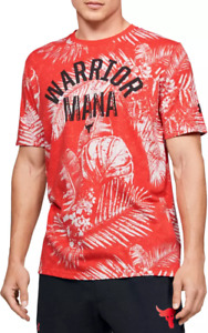 Under Armour Project Rock Kids Warrior Mana T-Shirt 1351840 Red/White/Black NWT