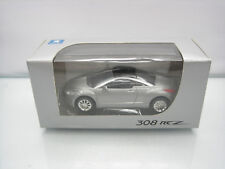 Diecast Norev Peugeot 308 RCZ 3 Inch Grey Mint in Box