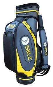 "61114 SKLZ Golfbag 10"" Tour Staffbag Cartbag 10 Inch schwarz / gelb"
