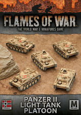Flames of War NUOVO CON SCATOLA Panzer II LIGHT TANK PLATOON GBX102