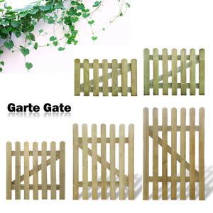 Garden Gate Impregnated Pinewood Fence Door Outdoor Picket Gate Wicket 60-150 cm