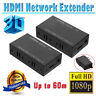 1080P HDMI Network Extender Over Single Cable CAT5E/6 Ethernet RJ45 3D FHD 200FT