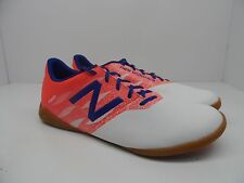 New Balance Men's Furon Dispatch IN Indoor Shoe White/Flame/Bolt Size 13D
