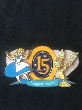 Disney Dlrp Dlp J-4 15th Anniversary Alice in Wonderland & Lumiere Pin Le 52/900