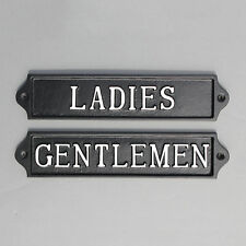 LADIES & GENTS TOILET DOOR SIGN ANTIQUE PUB SHOP CAFE RESTAURANT SIGN BATH16&17