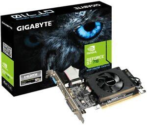SCHEDA VIDEO GIGABYTE NVIDIA GT710 2GB DDR3 PCI-Express  HDMI DVI VGA