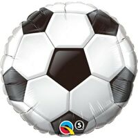 "ROUND SOCCER BALL FOIL BALLOON 18"" BIRTHDAY PARTY SUPPLIES"
