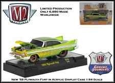 New Collectible M2 1/64 Diecast Car '58 Plymouth Fury in Acrylic Display Case