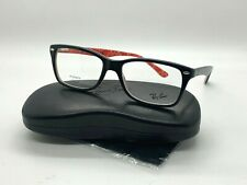NEW Ray Ban Eyeglass Frames RB5228 2479 BLACK/RED PRINT  55-17-140MM DEMO LENSES