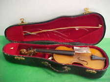 MINIATURE VIOLIN WITH CASE AND CERTIFICATE