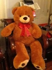 "52"" Plush Planet Jumbo Big Giant Teddy Bear Stuffed Animal Brown"