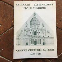 Catalogue Il Palude I Invalides Place Vendome Centro Culturale Svedese 1972