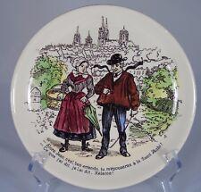 Assiette en faïence de U&C Sarreguemines, série les Normands n°5 (1875-1900)