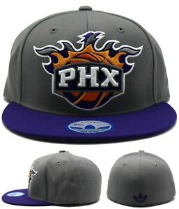 Phoenix Suns Adidas NBA New PHX XL Logo Gray Purple Era Fitted Hat Cap