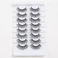 🇬🇧  8 Pairs 3D Mink False Eyelashes Wispy Cross Long and  Thick.