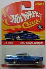 Hot Wheels Classics Series 1 1967 Dodge Charger 5/25 (Blue Version)