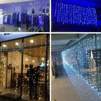 USB LED String Curtain Lights Waterfall Night Lights Xmas Party Wedding Decor