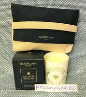 GUERLAIN ORCHIDEE IMPERIALE Bougie Parfumee Scented Candle 6.3oz 180g + bag NEW