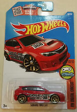 Brand New HOT WHEELS 1:64 Die-cast Red Subaru WRX STi (Hatchback)