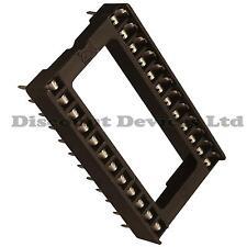 "2x 24 Pin RoHS PCB IC Socket DIL/DIP 24 0.6""  Pack of 2"