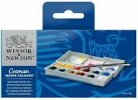 Winsor & Newton Cotman Watercolors Sketchers Pocket Box - 12 Half Pan Set