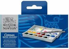 Winsor & Newton Cotman Watercolors Sketchers Pocket Box - 12 Half Pan Set