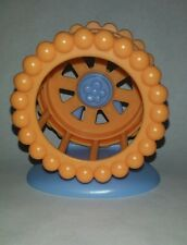 New listing Littlest Pet Shop Orange Hamster Exercise Wheel Accessory Replacement Part
