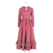Renaissance Costume Scottish Irish Civil War Prairie Peasant Plaid Long Dress