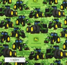 Patchwork Quilting Fabric JOHN DEERE TRACTOR GREEN B/G Cotton FQ 50X55cm NEW