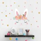 1 Pcs Easter Graffiti Wall Sticker Cartoon Rabbit Home Decor Removable 25x 25cm