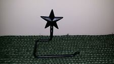 Forged Star Toilet Paper Holder, Black Wrought Iron, Wall Mounted, Hand Towel