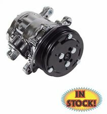 SD7 Style 7176 A/C Compressor with Serpentine Pulley Chrome Finish - ACS7176C