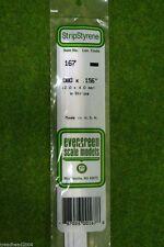 EVERGREEN STRIP STYRENE WHITE Plasticard .080 x .156 #167