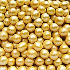 6mm Gold Sugar Balls Pearls Natural Cake Decorations Edible Toppers Nuts Free