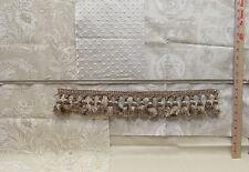 Fabric Lot Laura Ashley English Country Print Tan Beige Cream Rope & Tassel Trim