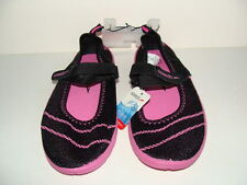 NWT SPEEDO Women's Water Shoes Size 5 6 Black Pink Beach Sandals Mesh Pool NEW