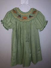 Rosalina Collections Girls Smocked Dress Fall Leaves Size 2T Pre-owned