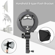Handheld S-type Flash Bracket Handle Chuck Umbrella Hole TT560 with Bowens-mount