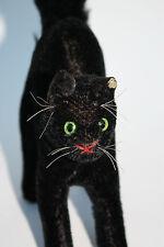 ORIGINAL STEIFF schwarzer kater* alt*mohairplüsch*19 cm*sehr gut erhalten