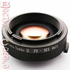 Zhongyi Focal Reducer Booster Lens Turbo II Canon FD to Sony E Adapter NEX-7 5T