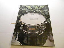 VINTAGE MUSICAL INSTRUMENT CATALOG #10221 - SUMMER 1972 FIBES DRUMS