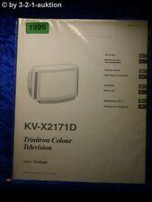Sony Bedienungsanleitung KV X2171D Color TV (#1995)