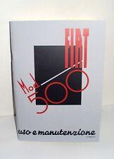 Uso e manutenzione FIAT 500 A Topolino-